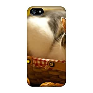New Premium XdtTl548kjNfD Case Cover For Iphone 5/5s/ Cat Basket Animals Protective Case Cover