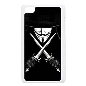 C-EUR Customized Phone Case Of V for Vendetta For Ipod Touch 4