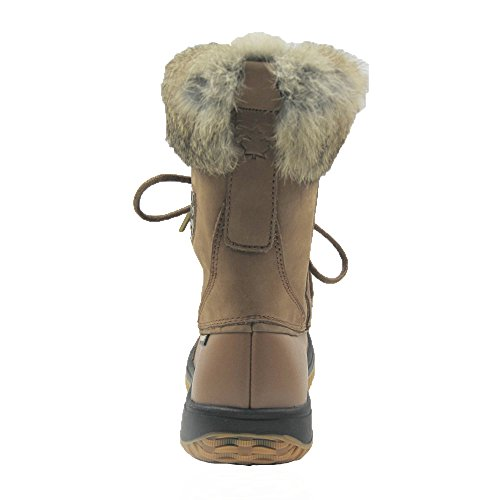Comfy Tan Leather Waterproof Guaranteed Glacier Winter Moda Boots Women's rwzqraS
