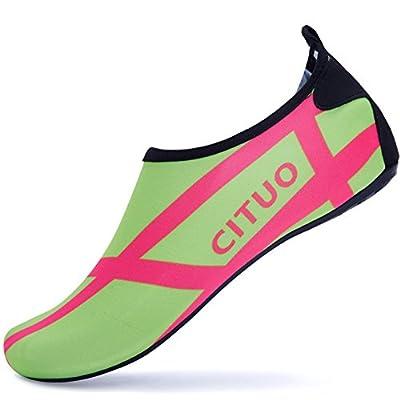 Giotto Barefoot Water Shoes Yoga Beach Swim Aqua Shoes for Women Men-Yellow-38-39