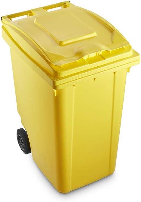 Certificato Uni EN 840 per Uso Esterno Colore Verde Mobil Plastic Bidone per la Raccolta differenziata rifiuti 360 Lt