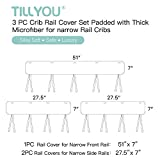 TILLYOU 3-Piece Padded Baby Crib Rail Cover
