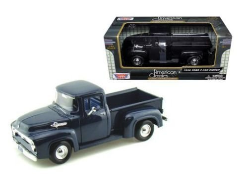 New 1:24 W/B AMERICAN CLASSICS COLLECTION - BLACK 1956 Ford F-100 Pickup Truck Diecast Model Car By MOTOR MAX
