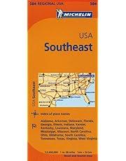 Michelin USA: Southeast / Etats-Unis: Sud Est Map 584
