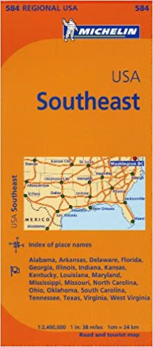 Michelin Usa: Southeast Map 584 (Michelin Maps): Amazon.de ...
