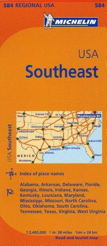 Michelin USA: Southeast Map 584 (Maps/Regional (Southeast Us Map)