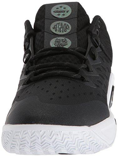 b1a106ac2ec91 AND 1 Men's Attack Low Basketball Shoe, Black/Junebug/Gum, 9.5 M US