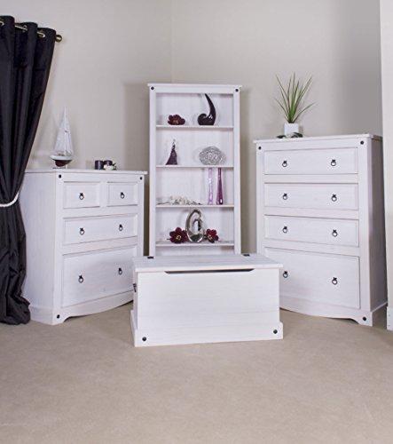 Corona White Pine Tall Bookcase Corona Whitewash Furniture: Amazon.co.uk:  Kitchen U0026 Home