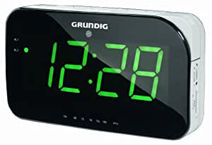 Grundig Sonoclock 490 - Radio (Reloj, Digital, FM, 1W, LED, 20 cm) Negro, Color blanco