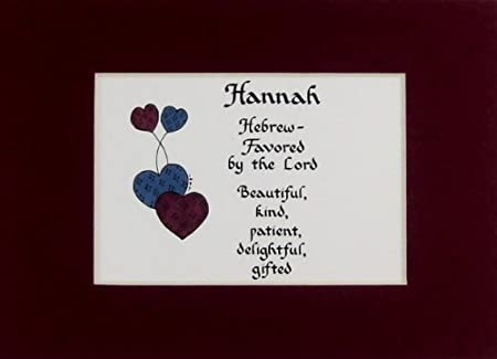 Personalized girl name meaning hannah wall picture keepsake gift personalized girl name meaning hannah wall picture keepsake gift made in the usa negle Images