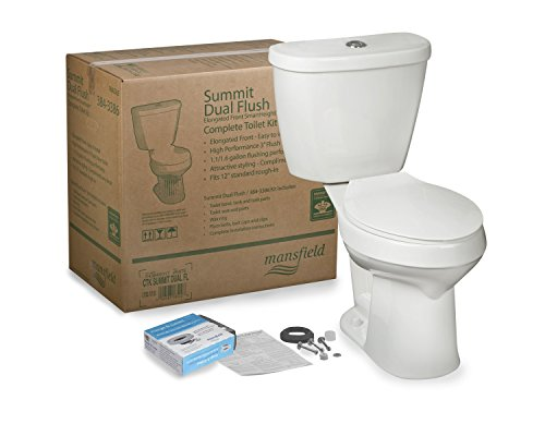 Mansfield Plumbing 43840017 DUAL-FLUSH SUMMIT TOILET, White
