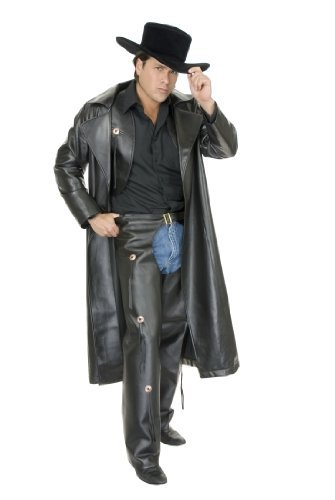 Pleather Cowboy Costume Duster
