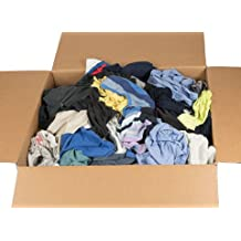 "Recycled Colored T-Shirt Rags - 18"" x 18"" - 40 Pounds in a Box - by RagLady"