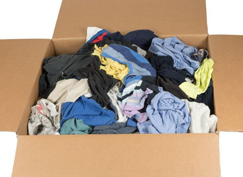 RagLady Recycled Colored T-Shirt Rags - 18'' x 18'' - 50 Pounds in a Box by RagLady (Image #3)