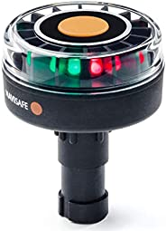 Navilight Tricolor (Red, Green, White) 2NM w/Scotty Base, Clear