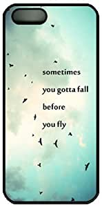 Sometimes You Gotta Fall Before You Fly Characteristic Quote Hard Back Cover Case For Iphone 6 plus