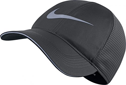 Nike Mens Aerobill Elite Running Adjustable Hat Anthracite/Black - A With Hat Running