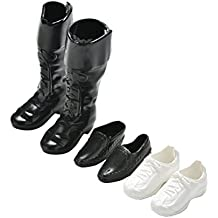 3 Pairs Prince Dolls Shoes Sneakers Cusp Shoes Leather Shoes Boots