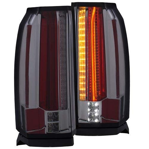 Anzo USA 311276 Tail Light Assembly Clear Lens Smoke Housing Pair w/LED Tail Light Assembly