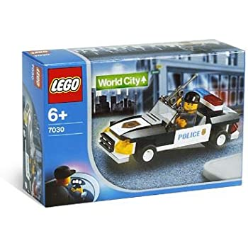 lego world city squad car 7030 51 pieces police toys games. Black Bedroom Furniture Sets. Home Design Ideas