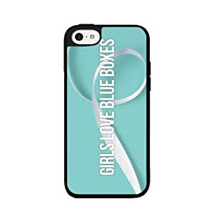 Girls Love Blue Boxes - Phone Case Back Cover (iPhone 4/4s - TPU Rubber Silicone)