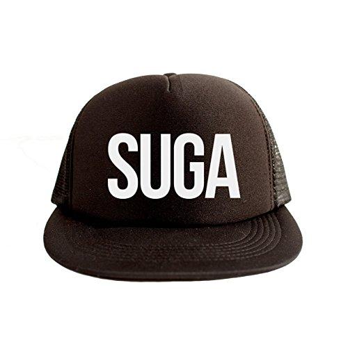 Suga Cool Swag Hip Hop Print 80s Style Snapback Hat Cap Black