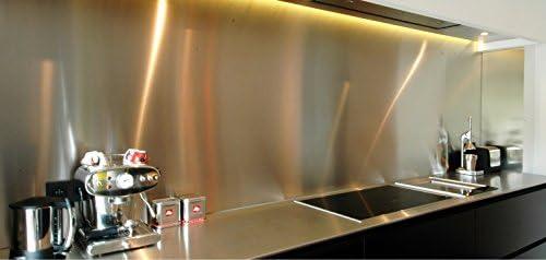 AluCouleur - Fondo para campana extractora, acero inoxidable cepillado, 5 tamaños, 75 cm de alto x: Amazon.es: Hogar