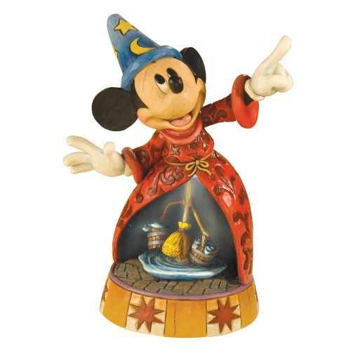 Enesco Disney Traditions by Jim Shore 4013249 Sorcerer Mickey Mouse Lighted Musical Figurine ()