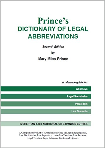Prince's Bieber Dictionary of Legal Abbreviations