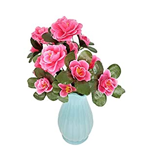 Wansan Artificial Flowers Fake Flowers Rhododendron Bouquet for DIY Table Home Garden Party Bridal Wedding Decoration 9