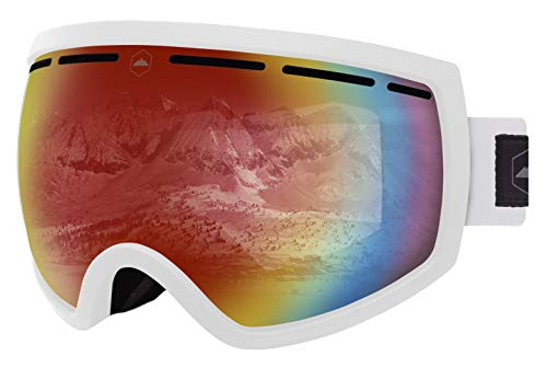(Ski & Snowboard Goggles - Dual-Layer Lens Snow Goggles for Skiing, Snowboarding, Motorcycling & Winter Sports - Anti-Fog and Helmet Compatible - UV400 Protection - Fits Men, Women & Youth)