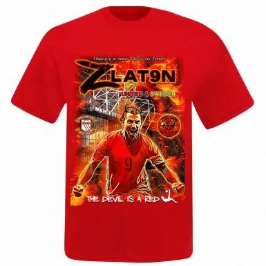 hot sale online 23d63 55f42 Amazon.com : Zlatan Ibrahimovic & Man Utd Super Striker T ...
