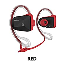 Jabees Bsport Bluetooth Earphone Runner Headset Sports Earphones with Mic Wireless Headphones for Running and Lifetime Sweatproof Guarantee (Red)
