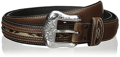 Nocona Belt Co. Men's Top Hand Black Middle Inlay