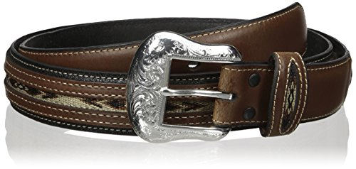 Nocona Men's Top Hand Black Middle Inlay, - Buckle Concho