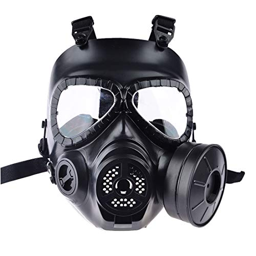 PeleusTech® WST Head Mask Full Face Single Canister Electric Ventilative Biochemical Gas Mask Toys Masks for Children, Cosplay,Halloween and Party - No Actual Anti-Virus Function]()