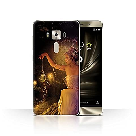 Official Elena Dudina Phone Case / Cover for Asus Zenfone 3 Deluxe ZS570KL / Pixie Dust Design / One with Nature (The Pixies Deluxe)