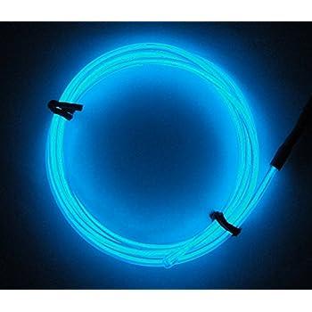 Amazon.com: 9ft Aqua-blue Neon Glowing Electroluminescent Wire (El ...