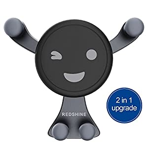 REDSHINE Car Mount Phone Holder Automatic Locking Universal Air Vent GPS Cell Phone Holder for Car for iPhone X/8/7/7P/6s/6P/5S, Galaxy S5/S6/S7/S8/S9,Note8 Google, LG, Huawei and More (Black1)