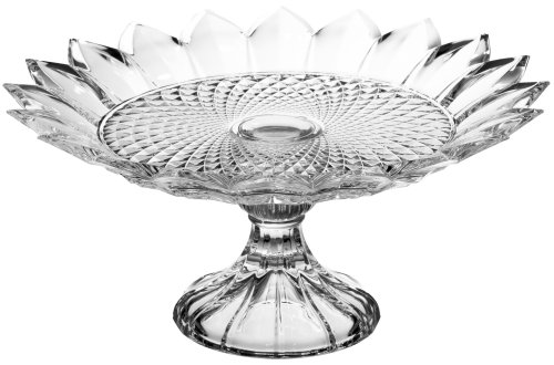 Crystal Pie Plate (Godinger Tiara Footed Cake Plate)