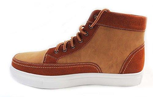 Newpolar Räv Mode Sneakers Hi-top Snörning Stövletter Skor Mpx55010 Brun