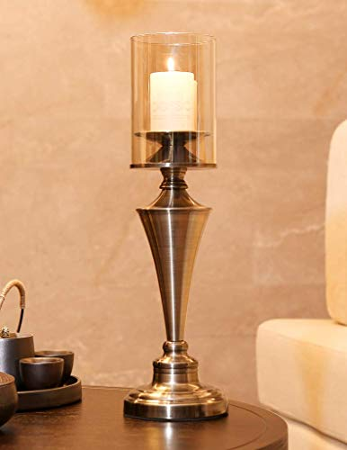 Amayan Globe- Fixture Covers Height10 Diameter4.3 Open-End -for Candle Open Ended - Borosilicate Clear Glass Candle Holder - (Multiple Specifications) by Amayan (Image #4)