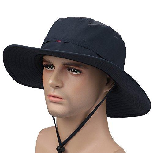 ISEYMI Wide Brim Caps Sun Block Collapsible Hats Fishing Golf Hat  Sombriolet Sun Hat UPF50+ 3937b88cb19