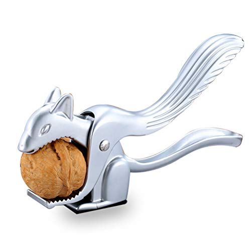 Nut Cookie Tool Heavy Spring Loaded Nutcracker, Squirrel Shaped Walnut Clip Zinc Alloy Opener Kitchen Pliers (Smooth),Mydears (Nutcracker Zinc Alloy)