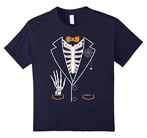 Kids Bones Tuxedo Skeleton Halloween 2017 Costume Kids T-Shirt 12 (Crazy 2017 Halloween Costumes)