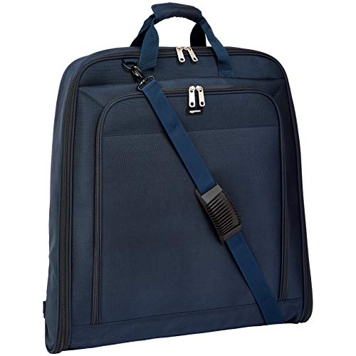 AmazonBasics Premium XL Garment Bag, Navy Blue - 45