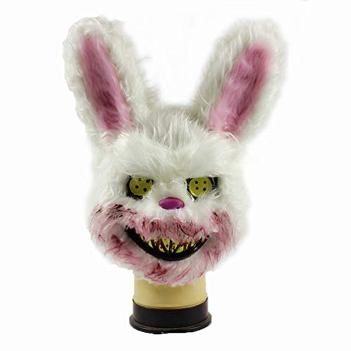 Bleeding Evil Killer Rabbit Horror Mask-White]()