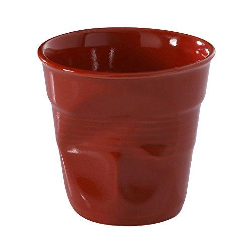 Revol Froisses 636513 Cappuccino Crumple Tumbler, Pepper Red