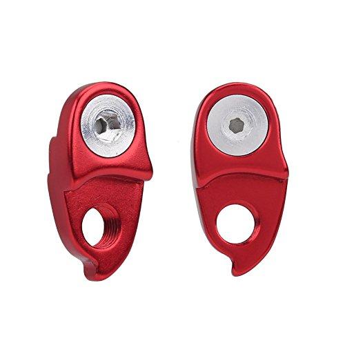 (2 pcs Bike Rear Derailleur Converter 10/11 Speed Bicycle Rear Derailleur Hanger Cycling Bicycle Tail Hook Lengthener (Red))