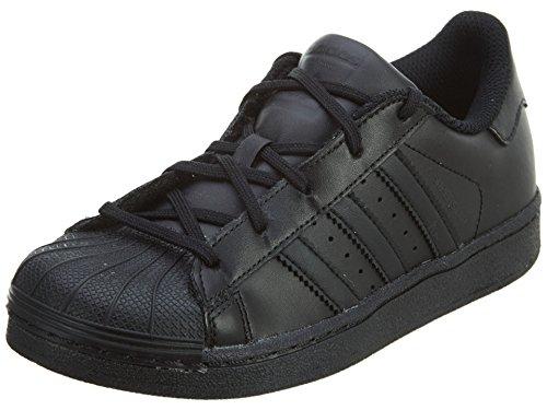 9a5f8676992cf adidas Kids' Superstar Foundation EL C Sneaker, Black/Black/Black, 10.5
